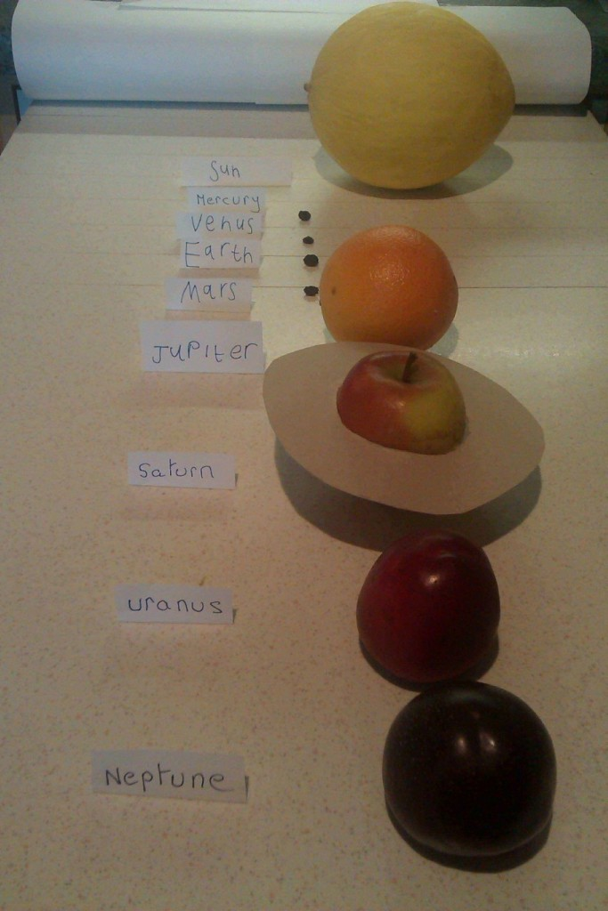 Fruit bowl solar system by Pippa